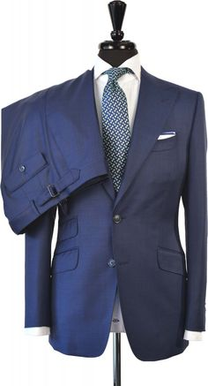 Blue Sharkskin Suit | Store | Beckett & Robb