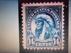 ANOTHER CRAZY AUCTION-1922-#565 14 CENT AMERICAN INDIAN-MINT, OG, VERY FINE-$