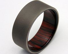 Sandblasted Titanium and E.India Rosewood by PeacefieldTitanium