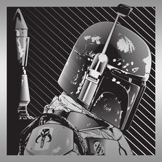 "JoshuaBudich - Boba Fett Fett  He's no good to me dead.  Cheers to most badass bounty hunter in the galaxy!  Specs: 11.5""x11.5"", laser-engraving on Glossy Black-Acrylic."