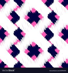 Abstract geometric background for fabric, print or wrapping paper. Indigo blue, white and pink design. Azul Indigo, Indigo Blue, Geometric Background, Textured Background, Ikat Pattern, Pattern Design, Indian Embroidery Designs, Pink Design, Scribble