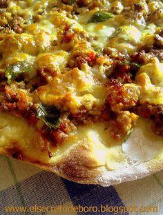 Pizza con salsa Boro-nesa (Pizza sauce boronesa)