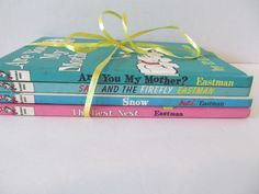 P. D. EASTMAN Books - Sam and the Firefly, The Best Nest, Snow, Are You My Mother? by CellarDeals on Etsy