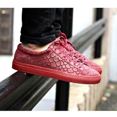 Bordeaux fish embossed suede sneaker from Axel Arigato. On sale now - 40% off #axelarigato axelarigato.com
