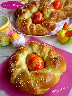 Pane di Pasqua coroncine dolci ricetta - pane soffice aromatizzato con vanillina e cannella da realizzare per le festività Paquali - wings of sugar blog