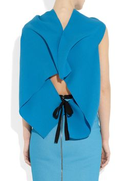 awesome color, weird cut, Roland Mouret