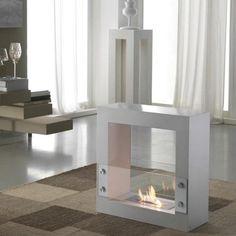 Caminetto bioetanolo da pavimento movibile Stones 5B con controllo della fiamma
