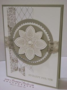 Stampin' Studio: Doilies, and Flowers and Lace, oh my!