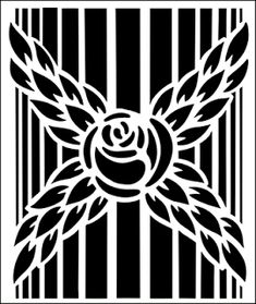 Flower stencils from The Stencil Library. Stencil catalogue easy view page Stencil Painting On Walls, Stenciling, Tribal Tattoos, Stencils Online, Library Architecture, Art Deco Wedding, Stencil Designs, Art Studies, Rose Design