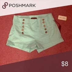 High wasted mint shorts Forever 21 high waisted mint shorts. Size 29. New Forever 21 Shorts Jean Shorts