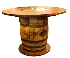 Full Barrel Bistro Table Made From Wine Barrels Rouge