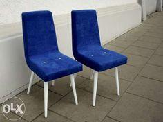 Krzesło chabrowe drewniane odnowione prl Łódź - image 1