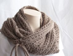 PATTERN - Do it yourself this Cowl - Pattern knitting Cowl - Infinity Scarf Knit Pattern Scarf Brown, Moka. $4.50, via Etsy.