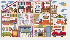 El blog de Dmc: Diagrama casa punto de cruz: el dormitorio