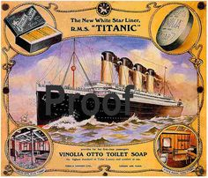 Titanic Vinola  Soap Advertising poster  Old magazine ad Photo reprint