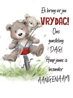 Good Morning Smiley, Goeie More, Bring It On, Teddy Bear, Animals, Animales, Animaux, Teddy Bears, Animal
