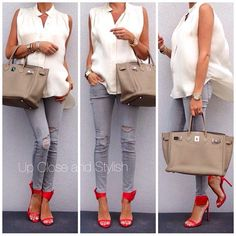 Early maternity style! Love the pop of color on shoes