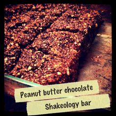 Peanut butter chocolate shakeology bars
