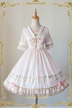 IchigoMiko -Ballad By The River Seine- Sailor Style Lolita OP Dress,Lolita Dresses, Pretty Outfits, Pretty Dresses, Beautiful Dresses, Cute Outfits, Harajuku Fashion, Kawaii Fashion, Cute Fashion, Kawaii Dress, Kawaii Clothes
