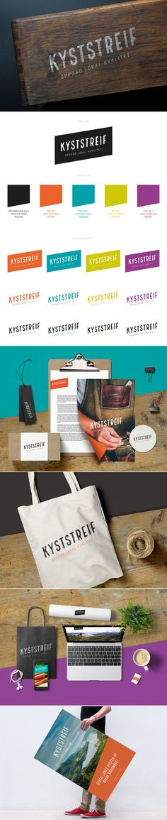 Visuell identitet » Kyststreif   Petchy Identity Design, Brand Identity Design