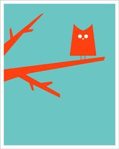 Friend Owl. #illustration #poster