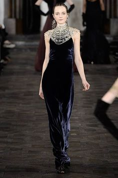 ralph lauren fall 2013 - Not his best collection, in my opinion (WAY too much black), but this dress is exquisite, especially when you see it in motion.