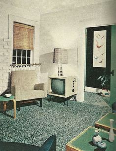 1960s Family Room Vintage Home Decorating Vintage Furniture Love The Feel Of This For The Basement Play Room Family Room Pinterest Home