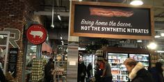 Whole Foods bacon sign