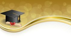 Illustration about Background abstract beige education graduation cap diploma red bow gold frame illustration vector. Illustration of objects, graduation, computer - 55814527 Education Degree, Art Education, Graduation Wallpaper, Page Borders Design, Powerpoint Background Design, Certificate Design, Graduation Invitations, Background Patterns, Abstract Backgrounds