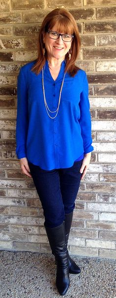 Love this blue blouse so much!