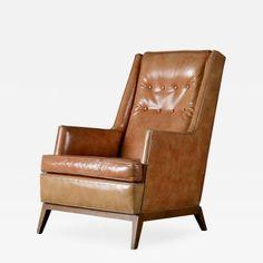 T.H. Robsjohn Gibbings Lounge Chair by T.H.  Robsjohn-Gibbings