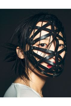 Li Xiao Xing styled in the Zana Bayne 'Woven Face Mask' for Creem.com Styled by Richard Ruiz	Photo by Alberto Maria Colombo