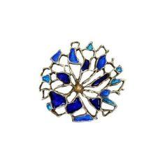 David Andersen Norway Enamel on Sterling Modernist Pin   eBay
