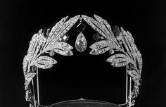 Cartier -1907- one of the diamond tiaras worn by Marie Bonaparte