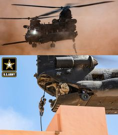 U.S. Army Soldiers, assigned to 19th Special Forces Group (Airborne), and the Royal Moroccan Army, fast-rope out of a CH-47 Chinook in Tifnit, Morocco. Africa Lion 2021 is U.S. Africa Command's largest, premier, joint, annual exercise hosted by Morocco, Tunisia, and Senegal. Patriotic Poems, Army Soldier, Soldiers, Morocco, Lion, Africa, United States, Exercise, Ejercicio
