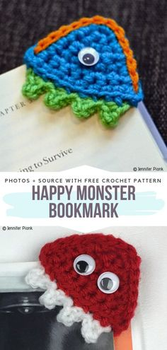 Funny Crochet Bookmarks Free Patterns Learn the basics of how to needlework (generic term), at the v Quick Crochet, Wire Crochet, Crochet Books, Crochet Basics, Crochet For Kids, Small Crochet Gifts, Crochet Teacher Gifts, Easy Crochet Bookmarks, Crochet Bookmark Patterns Free