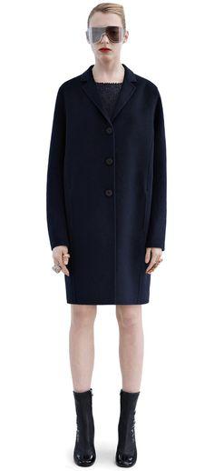 Acne Studios Elsa doublé navy Slightly waisted coat