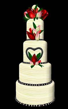 budding love wedding cake by Tragic Muse, via Flickr