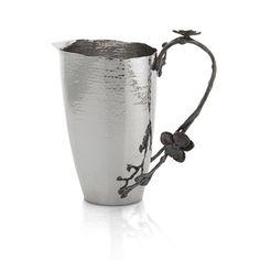 Michael Aram Black Orchid Pitcher ~ unique ~ love the darker metal handle