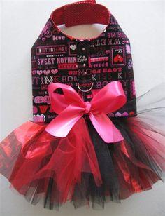Sweetie Pie Valentine's Day Tutu Harness Dog Dress #pets http://www.poshpuppyboutique.com/Sweetie_Pie_Valentine_s_Day_Tutu_Harness_Dog_Dress_p/ly-sweetie.htm