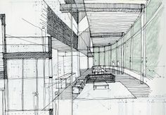 "Rendering by Michael Molton. Why designers should hand sketch, per Bob Borson, Life of an Architect:  ""Maybe it's because the process takes time, requires a person to slow down and think through what they are doing. These sketches don't have t..."