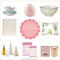Home decor gift ideas under 50USD for Spring seasonal color women