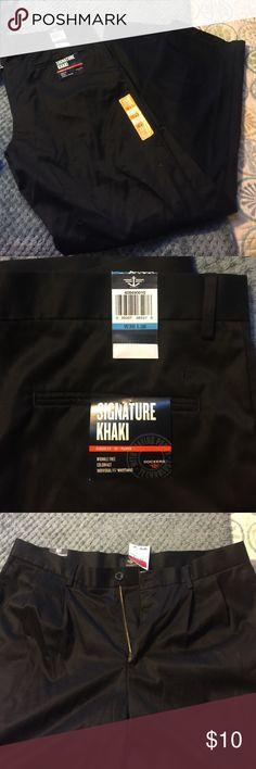 Mens black pants Dockers khaki type pants, NWT! He grabbed at Marshall's, but wrong size! 36/36 Dockers Pants Chinos & Khakis