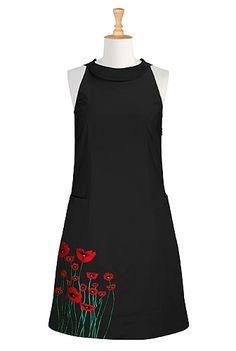 Contrast floral embellished shift dress by Eshakti on CurvyMarket.com Plus Size