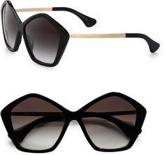 397f2eec8ba Star Metal Acetate Sunglasses - Lyst Oversized Round Sunglasses