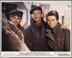 The Guns of Navarone - Publicity still of David Niven, James Darren & Gia Scala