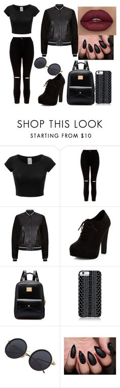 """Dark"" by vitoriagott ❤ liked on Polyvore featuring New Look, rag & bone and Savannah Hayes"