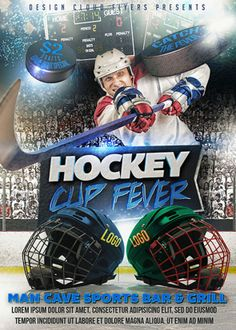 Hockey Game Night Event Promo Flyer | Hockey games, Print templates ...