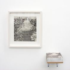 Stephan van den Burg  Untitled, 2012 (+ reproduction on card)  pencil and tape on paper  25.4 x 23,6 cm (+ 14.8 x 14.8 cm)