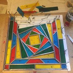 My #stainedglass current panel #workinprogress